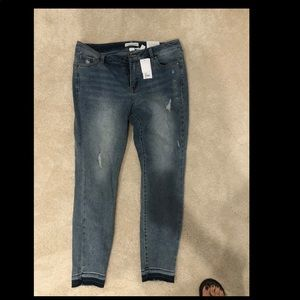 NWT skinny open hem jeans